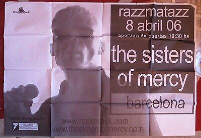 Sisters Of Mercy : Poster Concierto (Madrid 2006)