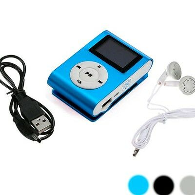 Mini USB Clip MP3 Player LCD Screen Support 32GB Micro SD TF Card + Headset