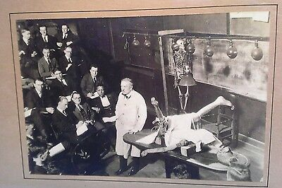 Medical Theater Lecture School Cadaver Corpse Skelton Black Doctor Photo c1910