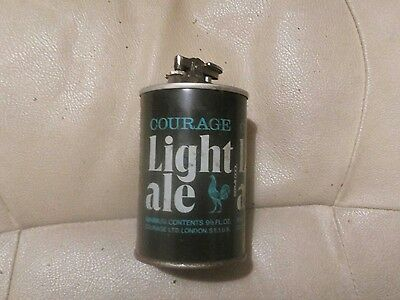 courage beer can lighter