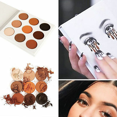 9 Colors Lady Eye Shadow Makeup Cosmetic Shimmer Matte Eyeshadow Palette Set FT
