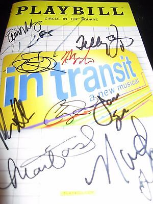 In Transit FULL CAST Broadway Autographed Playbill WOW !