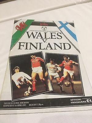 Wales V Finland Euro Qualifier 1987