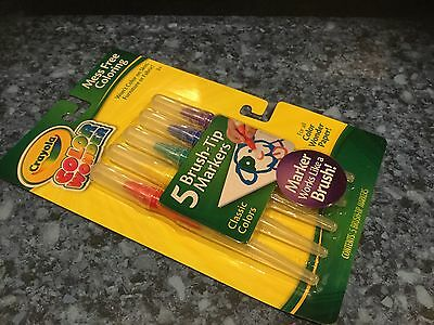 Brand New Crayola Colour Wonder Mess Free Colouring 5 Brush Tip Markers Gift