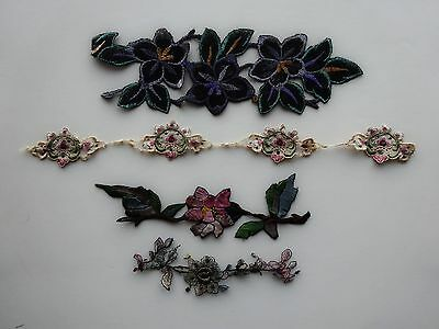 Miscellaneous Vintage Embroidered and Metallic Appliqués
