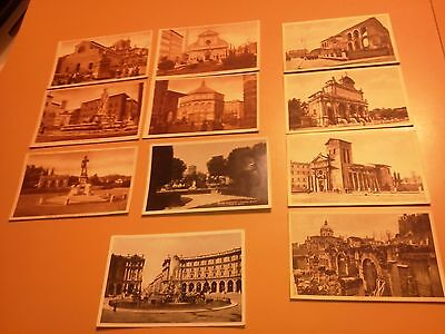vintage Postcards Italy Roma Firenze 2 real photograph postcards