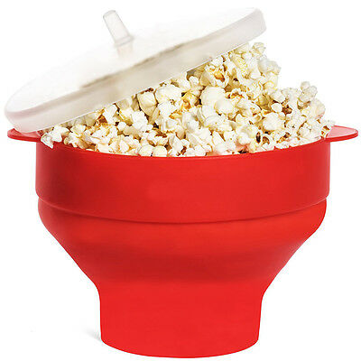 Microwave Silicone Popcorn Popper Maker Collapsible Bowl For Kitchen DIY Tool