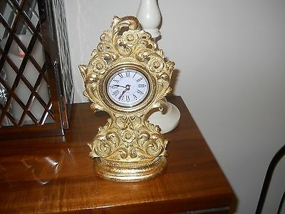 Gold coloured Ornamental clock from Dunelm