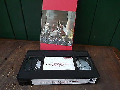 2002 VHS Full Recording of the wedding of present King & Queen of  Netherlands