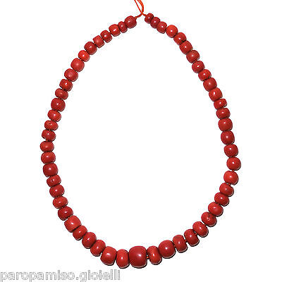 Antique String of Coral Beads from Tibet, China.   古董藏珊瑚珠   清(0717)