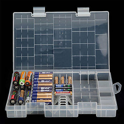 Box D C Case Battery 39 Grids Plastic 9V Hard AAA AA Holder Organizer Storage