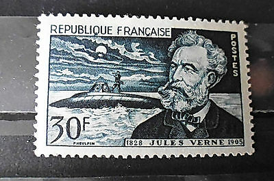 Timbre neuf FRANCE 1955 : Jules Verne