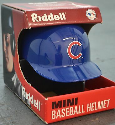 Chicago Cubs Mini Riddell Batting Helmet Unsigned