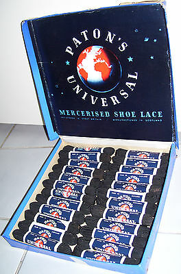 Vintage Patons Universal Shoe Laces In Display Store Advertising Tray