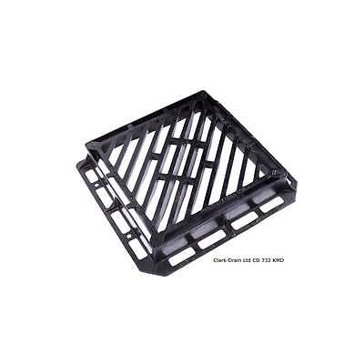 Clark Drain 600X600X100MM D400 D/Triangle Gully Grating & Frame