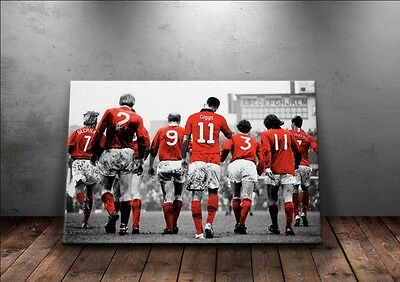 NEW Manchester United 'Legends' Wall Canvas A3