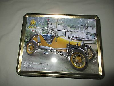 "MAC""S BUTTER SHORTBREAD BISCUIT TIN  '' 1926 SPEEDSTER and ADELAIDE BOAT ''"