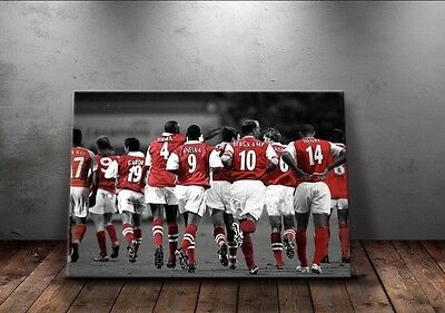 NEW Arsenal 'Legends' Wall Canvas A3