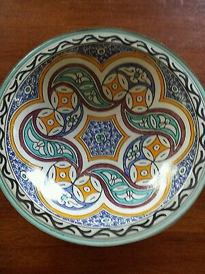 Hand-painted Morrocan Style Bowl