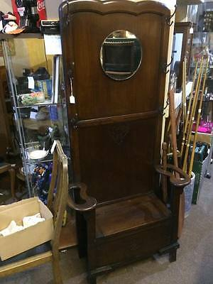 Victorian Edwardian Oak Hall Stand with shoe box ,coat stand ,antique ,vintage