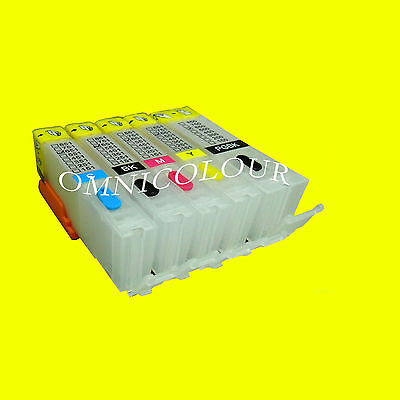 5 empty compatible refillable cartridge with ARC chip for Canon PGI-450 CLI-451