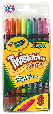 Crayola Neon Twistables Crayons - 8 pack - Brand New Damaged Package