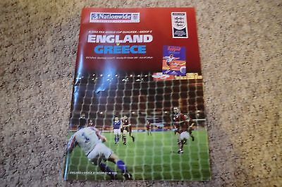 ENGLAND v GREECE- World Cup Qualifier @ Manchester United - 2001