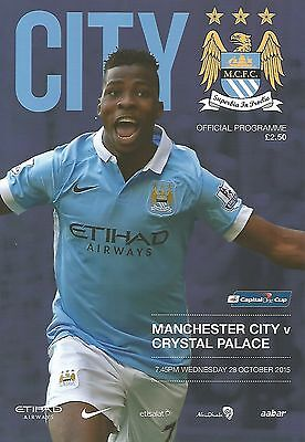 Manchester City v Crystal Palace 15/16 Capital One Cup new football programme