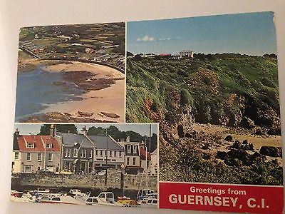 Postcard Greetings From Guernsey Channel Islands (3 Views) 1970's