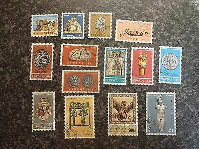 Cyprus Postage Stamps Sg283-296 Superb Used 1966-9