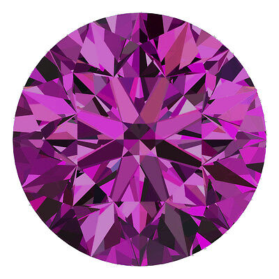 1.9 MM CERTIFIED Round Fancy Purple Color SI 100% Real Loose Natural Diamond #F