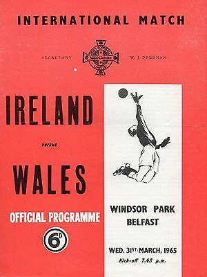 Northern Ireland V. Wales 31 March 1965