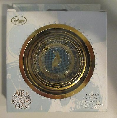 NEW Disney Store Alice Through the Looking Glass Glass Compact Mirror