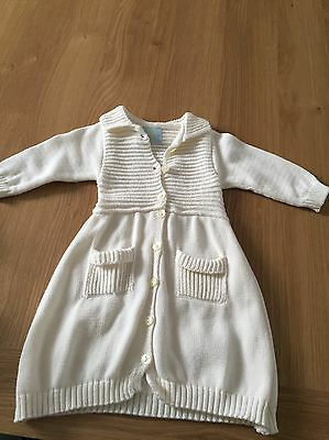 Floc Baby Baby Girl Cream Long Cardigan 3 Months