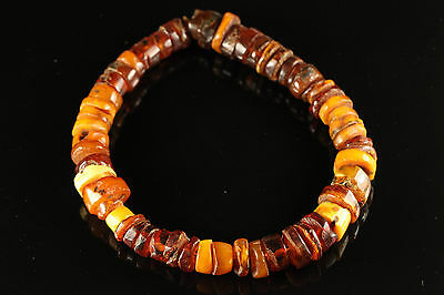 Natural Antique 56.37gr. Butterscotch Egg Yolk Baltic Amber stone Necklace A599