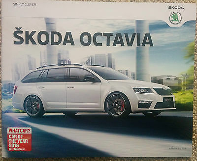 New Skoda Octavia Brochure 36 Pages Stunning - Mint Condition