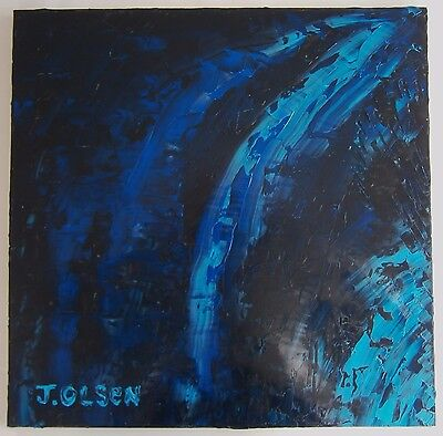 """An Abstract Oil Painting """"hydro"""" - Signed"""
