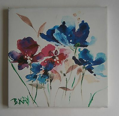 """Still Life Oil  Painting Of """"flowers """"  - Signed"""