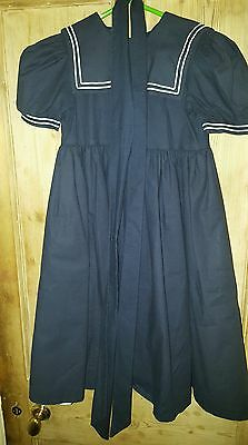 Laura Ashley vintage mother & child Navy blue sailor dress aged 5-6 years Girls