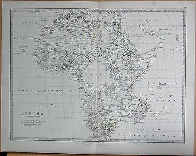 1874  Large Antique Map - Johnston- Africa