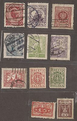 1919 - 1927 Poland Stamps Used / Unused  See Scan For Back And Front