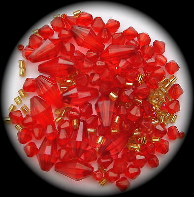 """""""red"""" Acrylic Beads For Making Jewellery--"""