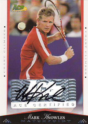 2008 Ace Authentic Matchpoint  Autograph  -  Mark Knowles  Auto