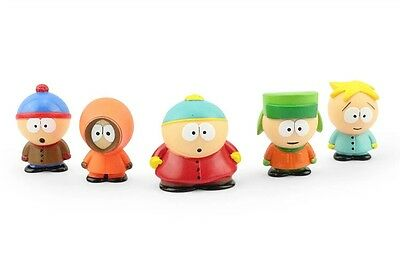 South Park Figure Set of 5pcs NEW Stan Kyle Eric Kenny Butters Figurine Toys!