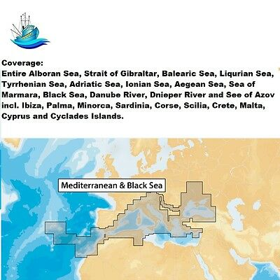 Navionics+ Mediterranean & Black Sea -microSD™ Nautical Charts Plus Daily Update