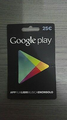 Gift Card Play Store Google 25 euro