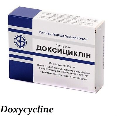 Doxycycline 10tablts 100mg ENT Infections