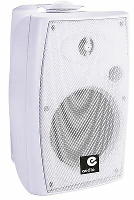 e-audio E-Audio 60w Active Wall Mounted Speakers with Bluetooth 4.0 White