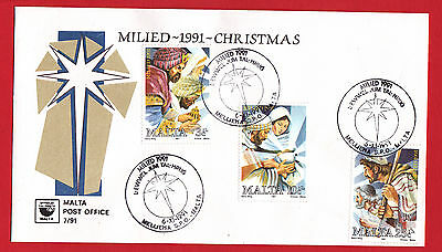 Malta 1991 - Christmas set on First Day Cover.