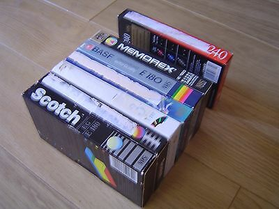 7 E180 E240 BLANK PAL VHS VIDEO CASSETTE TAPES for only £14 with FREE POSTAGE